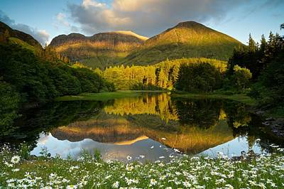 Summer Reflections In Glencoe Art Print