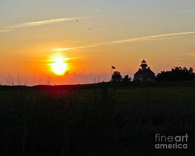 Photograph - Summer Sunset At East Point Light by Nancy Patterson
