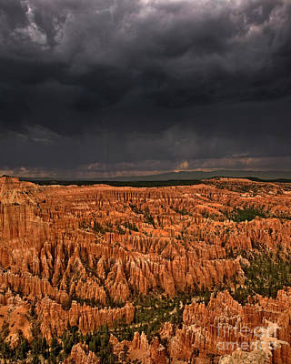 Photograph - Summer Thunderstorm Bryce Canyon National Park Utah by Dave Welling