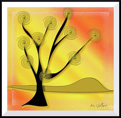Digital Art - Summer's Tree by Iris Gelbart