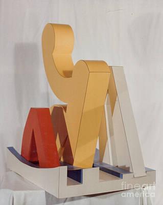 Sculpture - Sun Bather by Robert F Battles