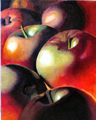 Painting - Sun Blessed Apples by JoeRay Kelley