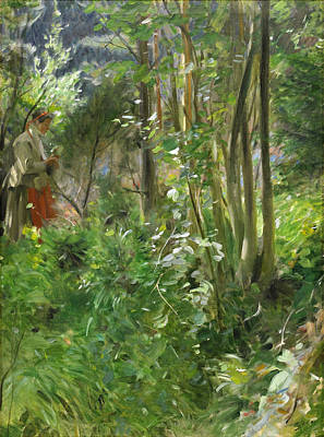 Anders Zorn Painting - Sun In The Forest by Anders Zorn