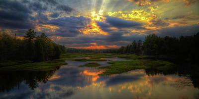 Photograph - Sun Rays Over The Moose River by David Patterson