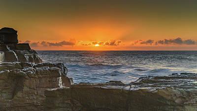 Sun Rising Over The Sea Art Print