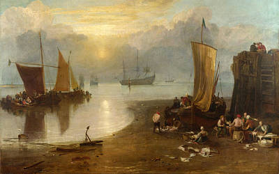 Angling Painting - Sun Rising Through Vagour by JMW Turner