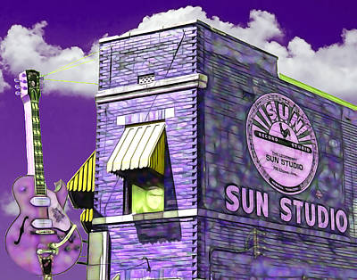 Elvis Presley Mixed Media - Sun Studio Collection by Marvin Blaine