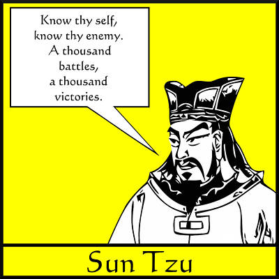 War Hero Digital Art - Sun Tzu by War Is Hell Store