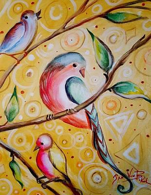 Painting - Sunshine Birds by Jan VonBokel