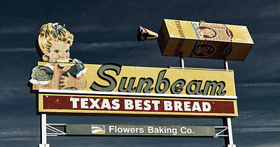 Sunbeam - Texas Best Bread Art Print by L O C