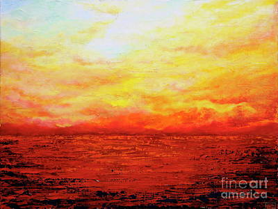 Painting - Sunburst by Teresa Wegrzyn