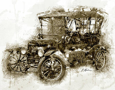 Sunday Driver Art Print by Gary Bodnar