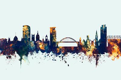 Sunderland England Skyline Art Print