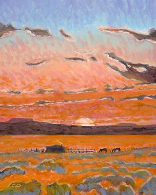 Maynard Dixon Painting - Sundown by Charlie Pickens