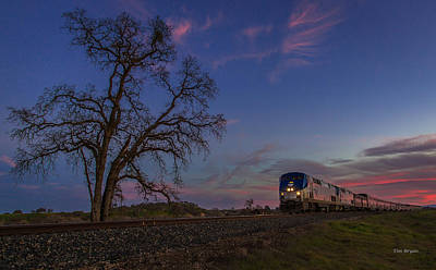 Photograph - Sundown On The Northbound by Tim Bryan