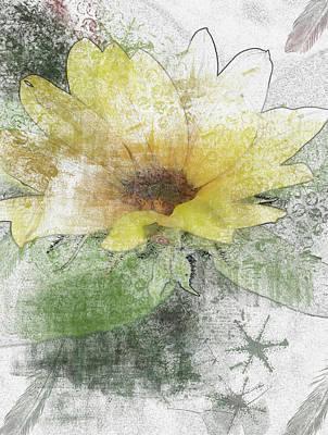 Digital Art - Sunflower Canvas by Richard Ricci