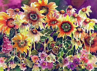 Painting - Sunflower Garden by Ann Nicholson