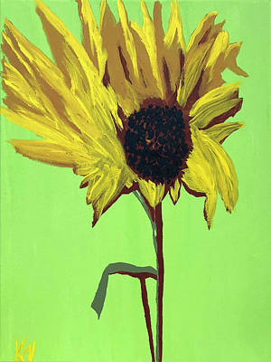 Painting - Sunflower by Karen Nicholson