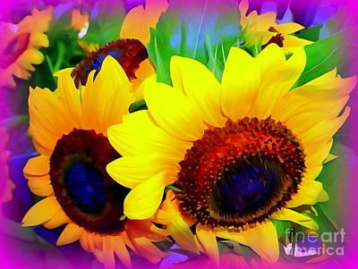 Photograph - Sunflower Pop by Ed Weidman