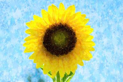 Digital Sunflower Mixed Media - Sunflower Proud by Florene Welebny