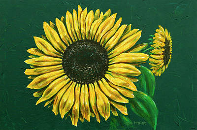 Pyrography - Sunflower by Ron Haist
