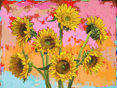 Painting - Sunflowers #7 by David Palmer