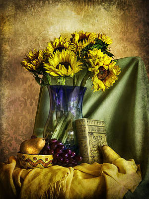 Digital Art - Sunflowers And Fruit  by Sandra Selle Rodriguez
