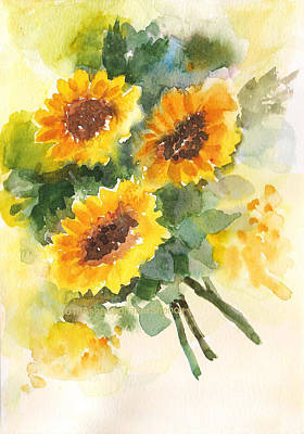 Painting - Sunflowers by Asha Sudhaker Shenoy