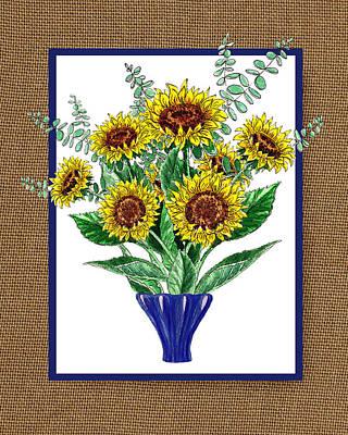Painting - Sunflowers Bouquet by Irina Sztukowski