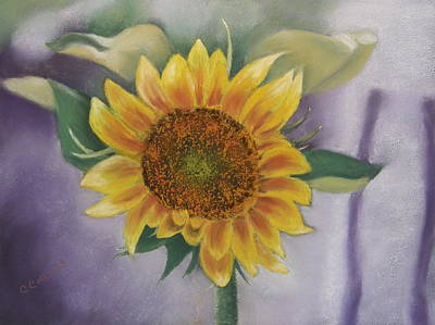 Pastel - Sunflowers For Nancy by Carol Corliss