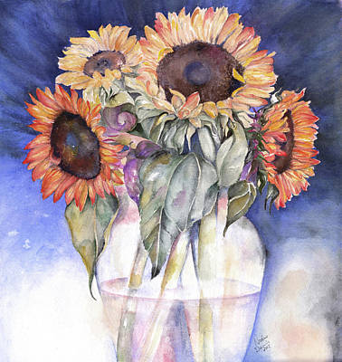 Painting - Sunflowers by Nadine Dennis