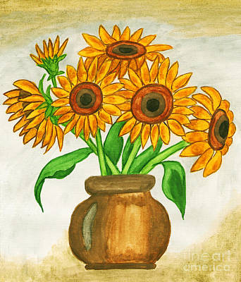 Painting - Sunflowers, Painting by Irina Afonskaya