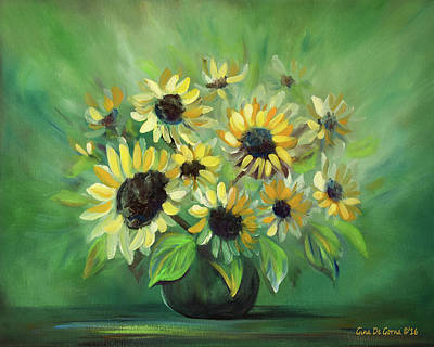 Painting - Sunflowers Still Life by Gina De Gorna