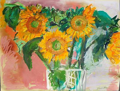 Pastel - Sunflowers by Zolita Sverdlove