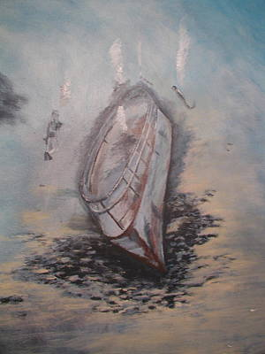 Sunken Ship Art Print