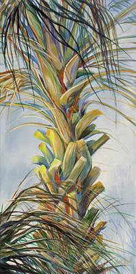 Gods Sunlight Painting - Sunlit Palm by Michele Hollister - for Nancy Asbell