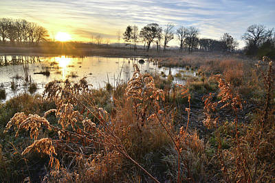Photograph - Sunrise At Hackmatack National Wildlife Refuge by Ray Mathis