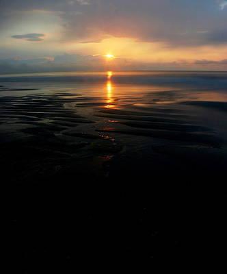 Photograph - Sunrise at Low Tide by Steve Doris