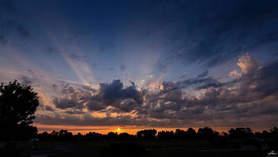 Photograph - Sunrise At The Abbott Aviation Center by Philip Rispin