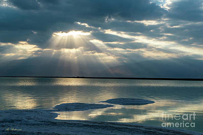 Photograph - Sunrise At The Dead Sea by Arik Baltinester