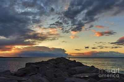 Jetty Digital Art - Sunrise At The Wedge by Eddie Yerkish