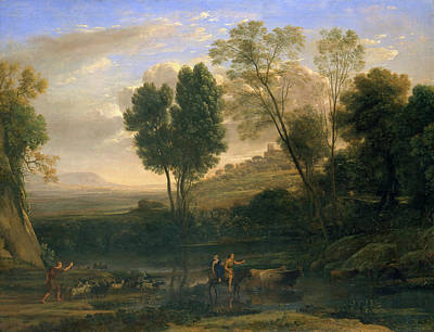 Riding Painting - Sunrise by Claude Lorrain