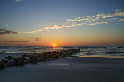 Beach Photograph - Sunrise In Avalon New Jersey by Bill Cannon