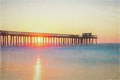 Beach Photograph - Sunrise In Avalon by Robert Barnes