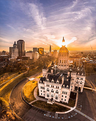 Sunrise In Hartford, Connecticut Art Print