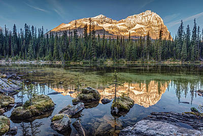 Photograph - Sunrise In The Rocky Mountains by Pierre Leclerc Photography