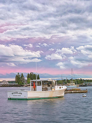 Photograph - Sunrise On Boothbay Harbor by Darylann Leonard Photography