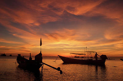 Sunrise On Koh Tao Island In Thailand Art Print