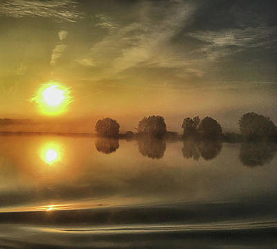 Digital Art - Sunrise On The Danube by Jim Pavelle