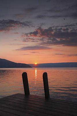 Keuka Lake Photograph - Sunrise Over Keuka V by Steven Ainsworth